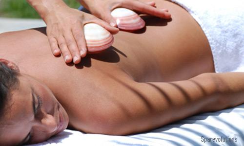 Lava Shell Massage bei floatkultur